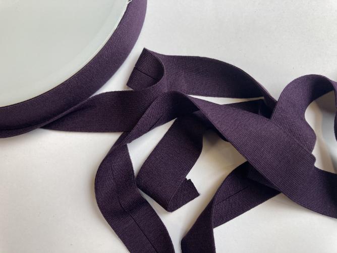 aubergine purple 98 jersey foldover bias binding