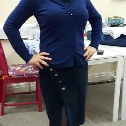 stretch needlecord skirt