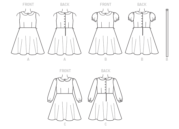 technical drawing of Vogue 9141