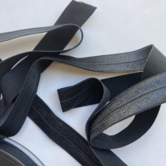 gunmetal grey fold-over elastic binding
