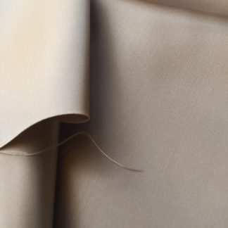 Taupe viscose satin coat lining