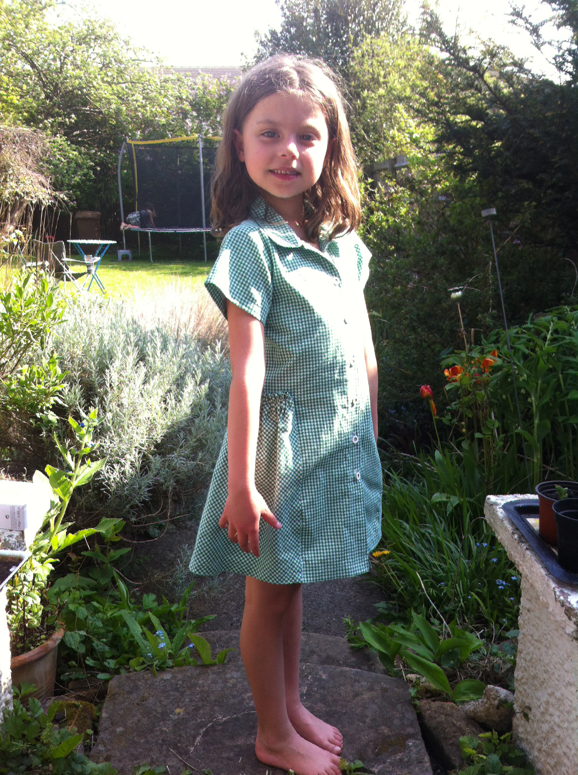 Green Gingham School Dress | Stone Fabrics and Sewing Surgery