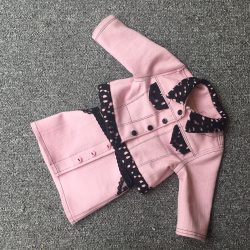 pink denim jacket and skirt for dolly