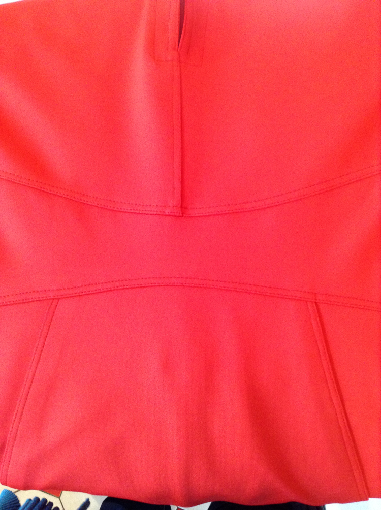 red scuba jersey Chado Ralph Rucci dress