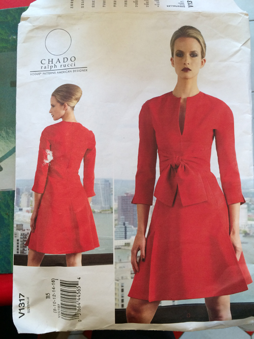 V1317 Chado Ralph Rucci dress pattern from Vogue