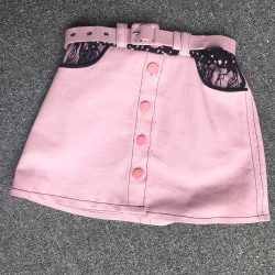 Pink Denim Jacket and matching skirt