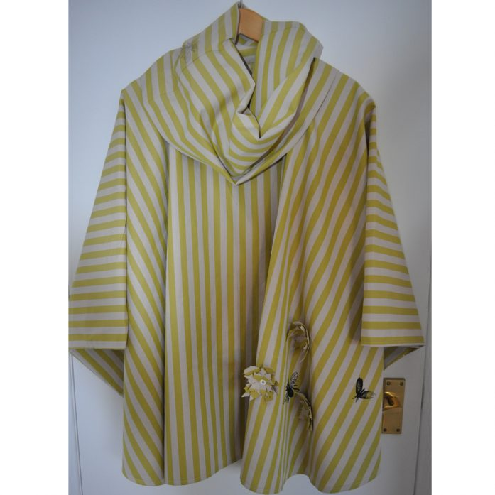 green stripey water resistant cape