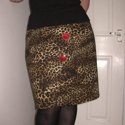 wrap leopard print skirt