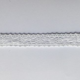 White Crochet Cotton 12mm wide Lace