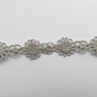 Grey Cotton 25mm wide Daisy Braid