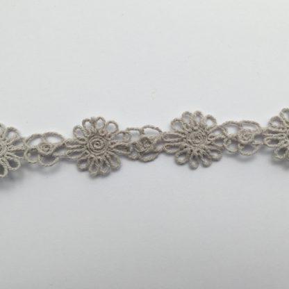 Grey Cotton 25mm wide Daisy Braid