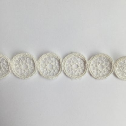 Ivory decorative crochet trim