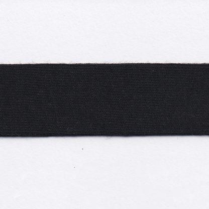 black cotton jersey bias binding