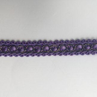 Purple Polyester and Lurex Gimp 16mm Braid