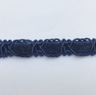 French Navy figure of eight gimp 18mm Braid with velvet ribbon