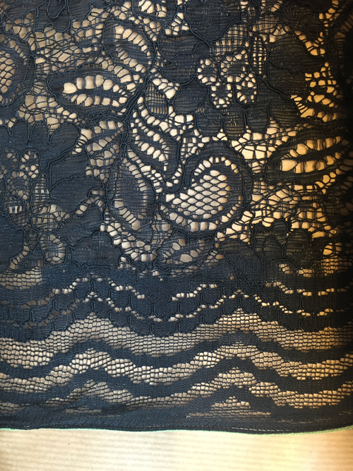 black corded lace selvedge