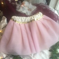 pink tulle tutu with sequins