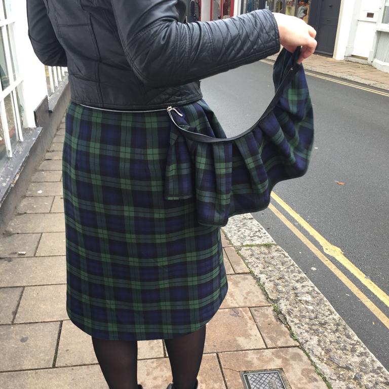 zip off peplum pencil skirt