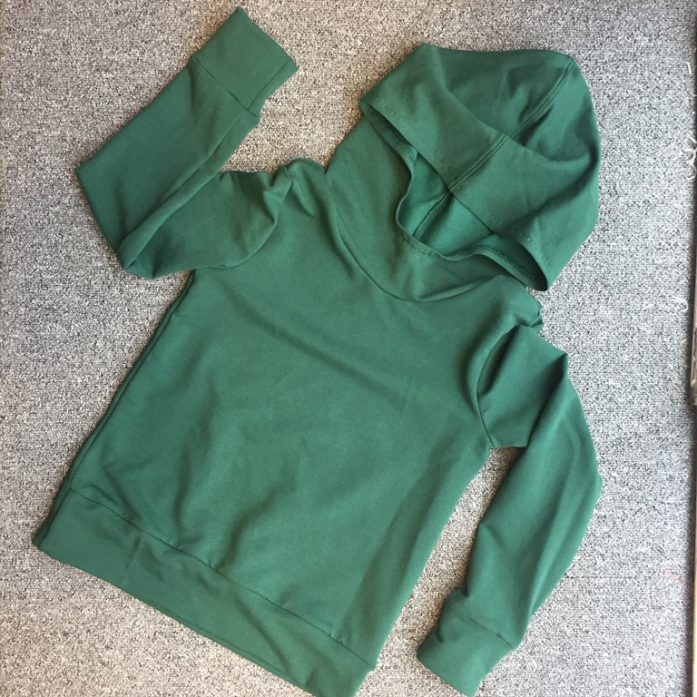 green cotton and modal school jumper