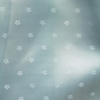 Ice Blue daisy jacquard coat and jacket lining