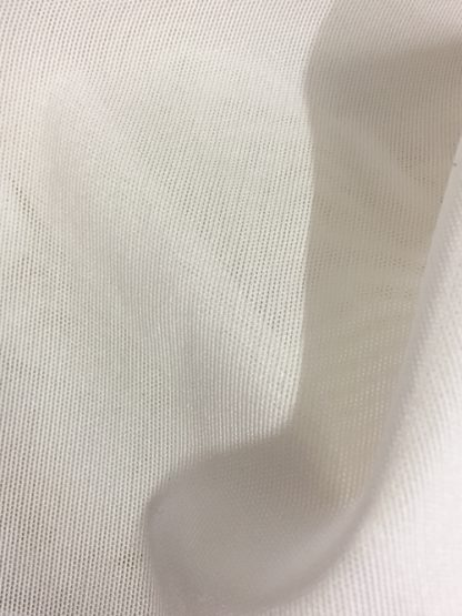 7977 White68% Polyamide and 32% Elastane firm/strong stretch lingerie Powernet - perfect for bra bands and control panels
