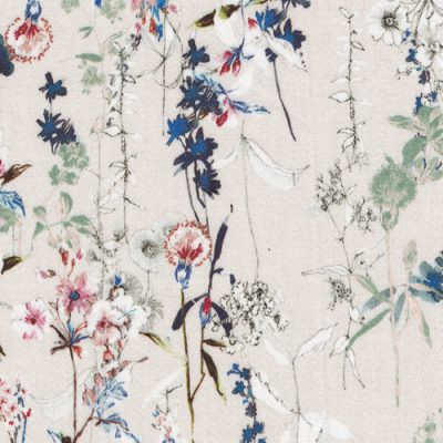 spriggy floral print 97% Cotton 3% Elastane stretch cotton sateen