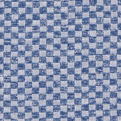 designer royal blue and white checker board check suiting from LG