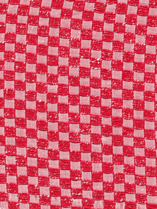 designer red and white checker board check suiting
