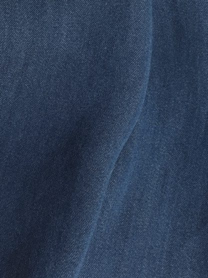 indigo denim slinky cupro shirting