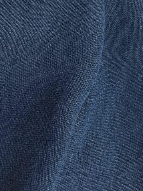 indigo denim slinky cupro shirting