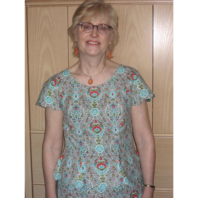 paisley print babycord dress