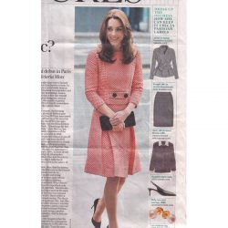 60's inspired red and white checkerboard dress by LG worn by HRH Duchesse of Cambridge