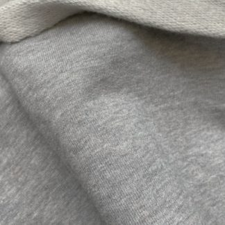 premium loop back soft melange grey cotton sweatshirting