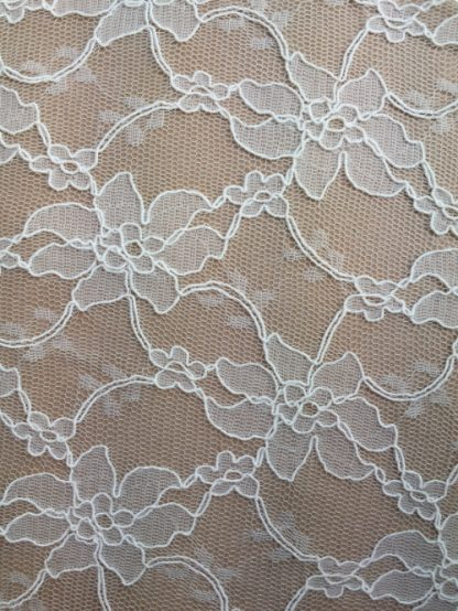 ivory scallop border corded lace