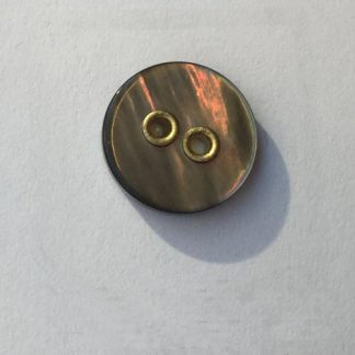 brass rivetted smoke shell shirt button