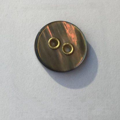brass rivetted smoke shell shirt button