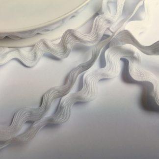 White Polyester Rick Rack Braid H0323-01