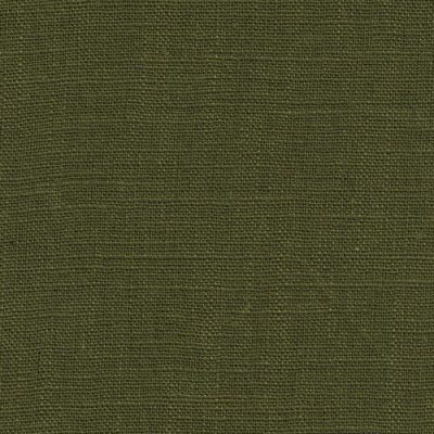 olive green medium-heavy washed linen dressmaking fabric