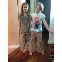 Printed pajamas in brushed cotton