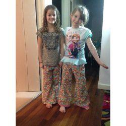 Printed pajamas in brushed cotton