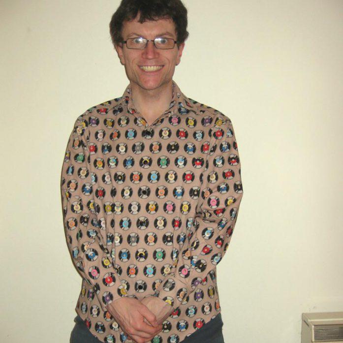 Vinyl records print man's shirt