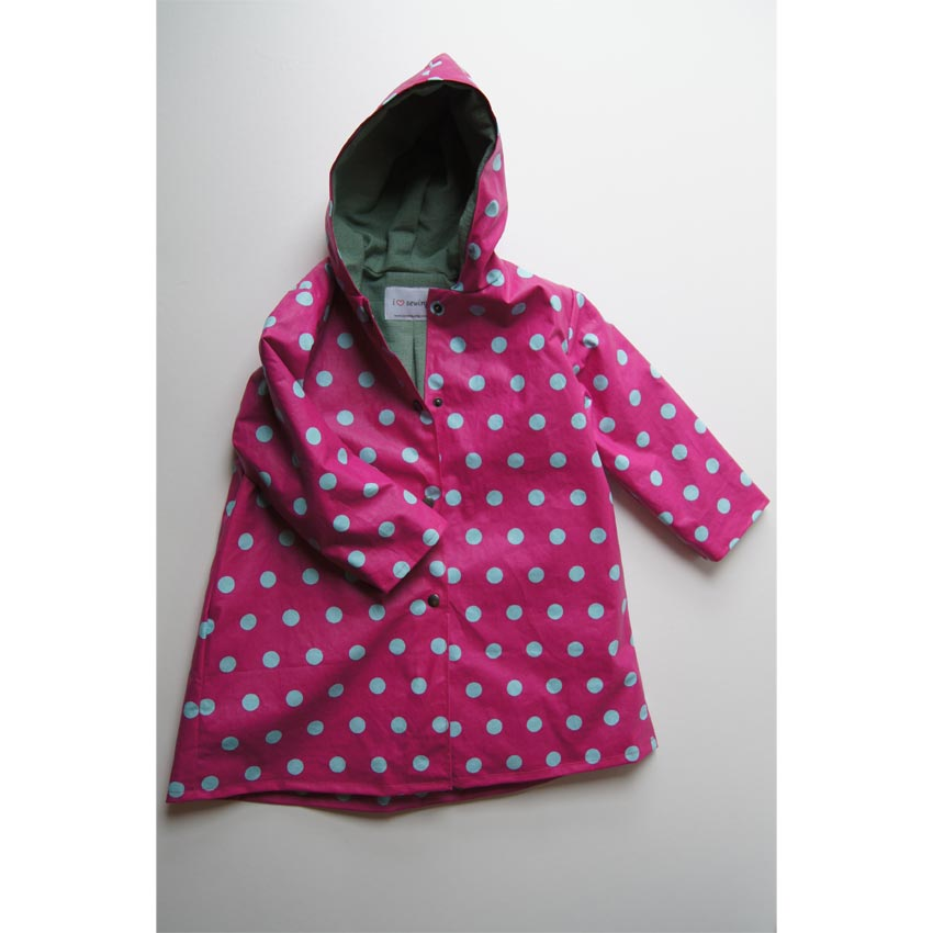 Pink and Turquoise Spotty Raincoat