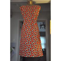 Watermelon print Cotton A-Line Dress