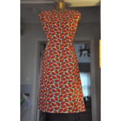 Watermelon print Cotton A-Line Dress
