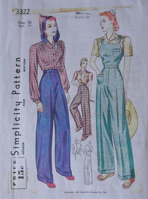 Simplicity 3322 1970's jumpsuit pattern