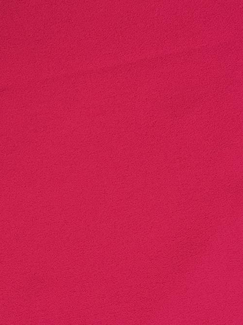 fuchsia pink polyester triple crepe