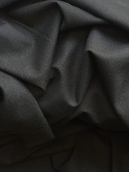 charcoal grey black superior quality wool crepe with 1% elastane