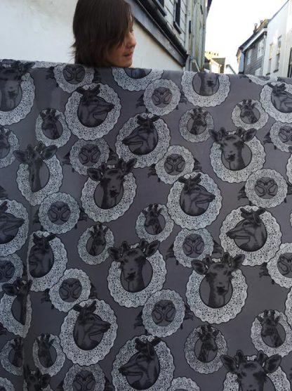 giraffe print silk crepe de chine