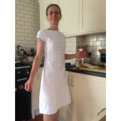 white broderie anglaise embroidery dress