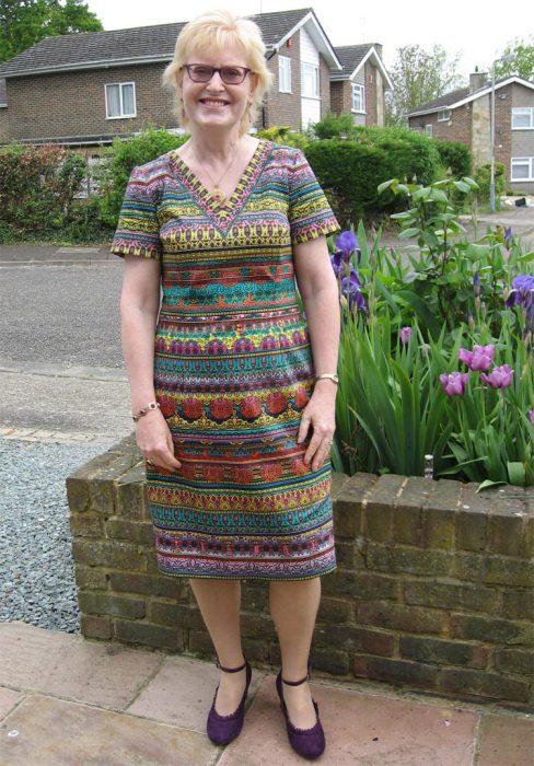 multicolour stripe pattern dress